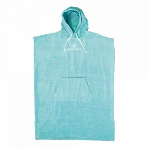 Ladies-Hooded-Poncho-Blue