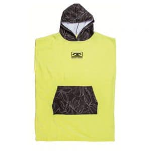 Youth-Hooded-Poncho-Lime